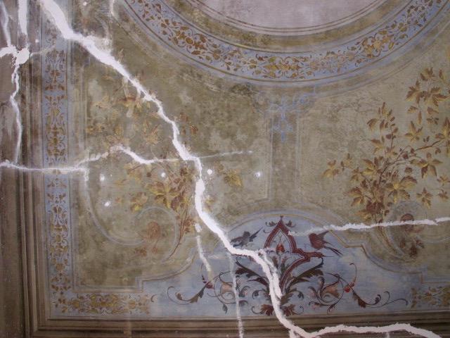 restauro affreschi del soffitto in arella dipinto