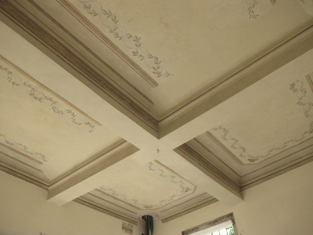 Restauro affreschi e pitture murali interni proprietà privata